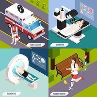 ilustração em vetor conceito isométrico de tecnologias médicas