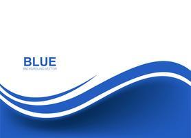 Belo negócio azul fundo ondulado vetor