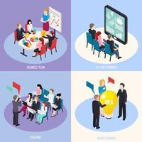 ilustração em vetor conceito design isométrico coaching de negócios