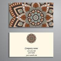 cartão de visita clássico tradicional vetor