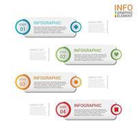 infográfico de negócios modernos modelo de vetor de 4 etapas