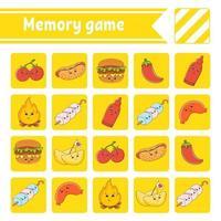 jogo de memória para crianças vetor