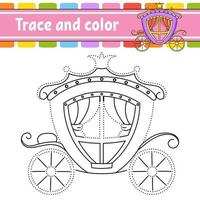 traço e carruagem de cor vetor