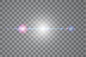 vetor luz solar efeito de luz especial de reflexo