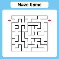 jogo de labirinto quadrado para crianças vetor