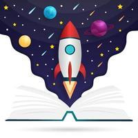 ilustração de livro de fontes de conhecimento vetor