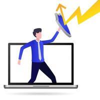 protegendo computadores de ataques de hackers vetor