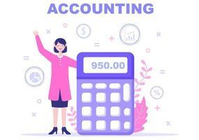 ilustração vetorial de gestão financeira ou contabilidade vetor