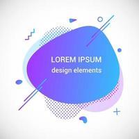 moderno líquido irregular ameba bolha forma elementos abstratos gráfico estilo plano design fluido ilustração vetorial definir banner modelo de forma simples para folheto de apresentação isolado no fundo branco vetor