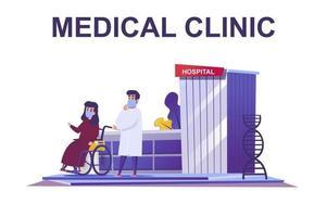 conceito web de clínica médica em estilo simples vetor
