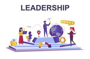conceito de liderança da web em estilo simples vetor