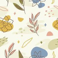 fundo padrão floral abstrato vetor