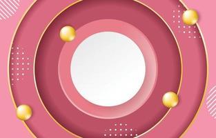 fundo rosa com um círculo no meio vetor