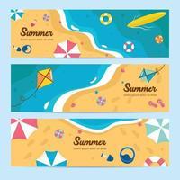 conjunto de banner de evento de verão vetor