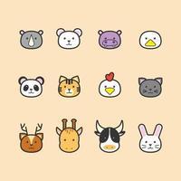 coleção de ícones de animais vetor