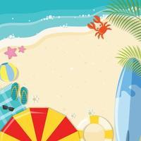 fundo de praia verão vetor