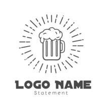 ilustração do design do modelo do vetor do ícone do logotipo da cerveja