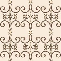 padrão de redemoinho sem costura em um estilo simples ornamento de ondas infinitas vetor