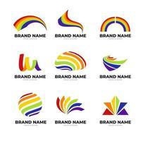 coleção de logotipo do arco-íris vetor