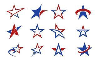 coleção de modelos de logotipo de estrela vetor