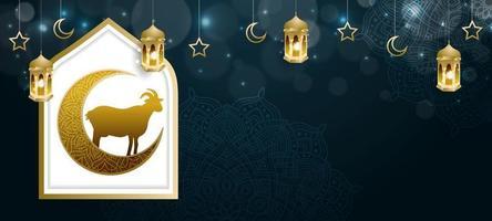 eid al adha background vetor