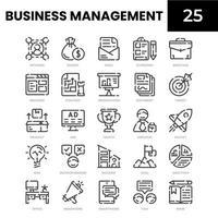 ícone da linha de gestão de negócios vetor