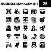 ícone de glifo de gestão de negócios vetor