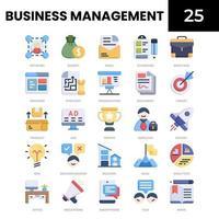 ícone plano de gestão de negócios vetor