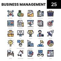 ícone de cor linear de gestão de negócios vetor