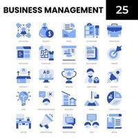 ícone azul de gestão de negócios vetor