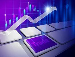 economia mundial e conceitos financeiros vetor
