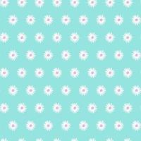 Teste padrão floral sem costura com flores de camomila em fundo azul ilustração vetorial design cartão de convite de casamento vetor