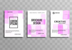 Vetor de conjunto de modelo empresarial moderno brochura