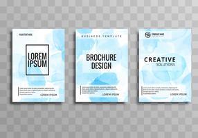 Brochura de negócios abstrata definir modelo de design vetor