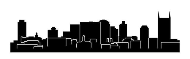 silhueta da cidade de nashville tennessee vetor