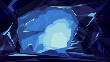 fundo de caverna de gelo vetor