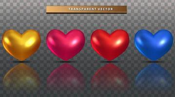 conjunto de coração colorido vetor