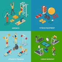 ilustração em vetor treino fitness design conceito