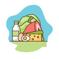 Ilustração de dieta cetogênica vetor