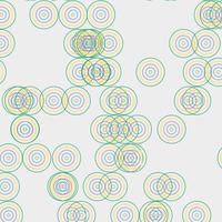 desenho abstrato de padrão de círculo colorido vetor