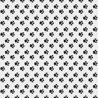 padrão sem emenda de pontos pretos de pé de bebê vetor