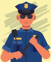 Ilustração de policial vetor