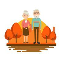 Vetor de desenhos animados de avós