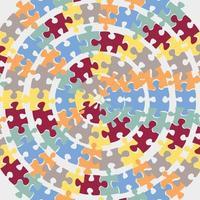 padrão do dia de conscientização do autismo vetor