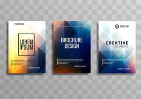 Belo conjunto de modelo de folheto colorido de negócios vetor