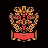 mascote rei coruja vetor