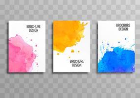 Fundo de modelo colorido de brochura negócios abstratos vetor