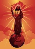 sagrado coração de jesus cristo vetor