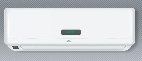 sistema de ar condicionado bloco de refrigeração e aquecimento do condicionador para casa ou escritório modelo de equipamento de tecnologia eletrônica de clima realista ilustração 3d vetor eps 10
