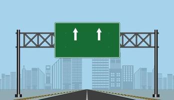 estrada rodovia assina quadro verde vetor